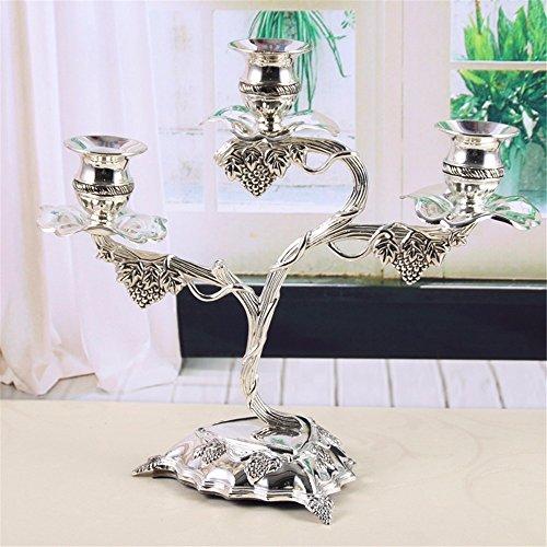 Mode Dekoration Retro Metall Handwerk Kreative Traube 3 Kopf Leuchter Heimtextilien Dekoratives Kunsthandwerk 26 5 X 12 5 X 24 Cm Windlichthalter (Metall-halloween-dekoration)