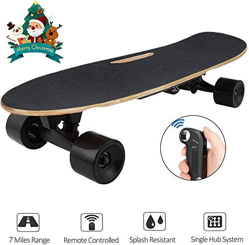 Hiriyt Elektrisches Skateboard Longboard Skateboard mit Funkfernbedienung auf Vier Rädern, Höchstgeschwindigkeit 20km/h*