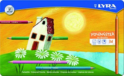 LYRA 2411360 Youngster - Lapiceros de Colores con Caja metálica (36 Unidades)