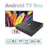 T9 Smart Android 8.1 TV Box RK3328 4K VP9 H.265 HDR 4GB RAM / 32GB ROM BT Wifi LAN HD Media Player with LED Display