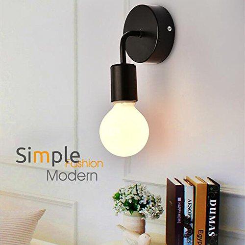 OOFAY LIGHT® Mini Applique murale 1 ampoule moderne design simple fer classique lampe mural de couloir cuisine salon chambre lechten H17 cm Lampe E27 max. 40 W noir