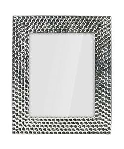 Premier Housewares 2300679 Cadre Photo en Céramique Effet Martelé Chromé 20 x 25 cm