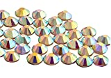 Pack of 1440 (ss16 (4mm), Crystal AB, EIMASS® 7727 Flat Back Non Hot Fix Glass Crystals