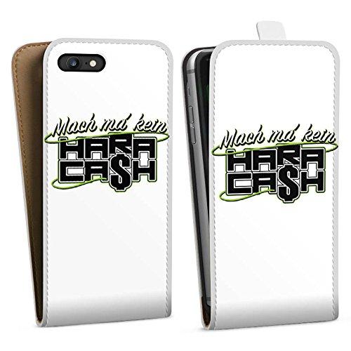 Apple iPhone X Silikon Hülle Case Schutzhülle Elotrix Fanartikel Merchandise Hara Cash Downflip Tasche weiß