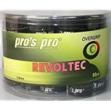 60 Overgrip Revoltec Tape negro tennis grips Cinta para mango de raqueta de tenis