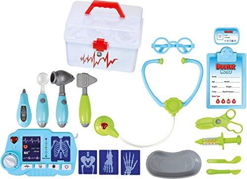 Arzt-Set für Kinder TG663 – Lustiges Arzt-Set für Kinder, Mädchen und Jungen, mit 18 Teilen inklusive eines Röntgengeräts - Medizinisches Spielzeugset von ThinkGizmos (markengeschützt)