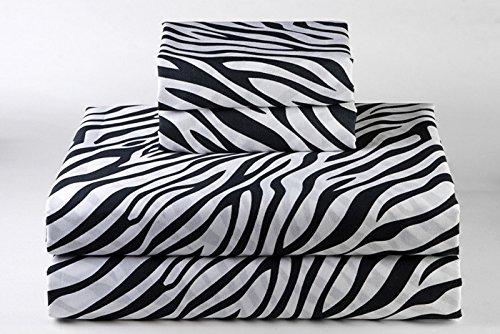 British Wahl Leinen Ägyptische Baumwolle 4PCS-Bettlaken-Set 650-thread-count Satin., baumwolle, Zebra Print, Euro Single Ikea