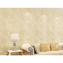 ufengke Romántico Extragrueso No Tejido Patrón de Flores 3D Papel Pintado Mural Para Dormitorio Sala de Estar