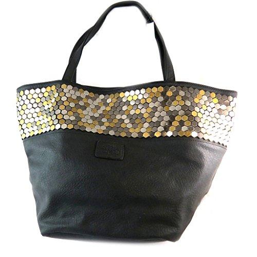 Bag designer 'Le Temps Des Cerises'nero - 52x30x21 cm.