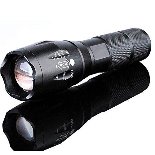 Preisvergleich Produktbild Tactical Taschenlampe, 10000Lumen doutree zoombaren Taschenlampe, aufladbare CREE LED Taschenlampe