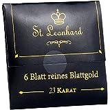 St. Leonhard Blattgold Dekos: Deko-Blattgold, 23 K (Blattgold zum Dekorieren)