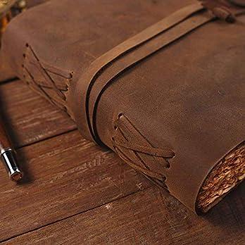 Geschenk Buffalo Brown plain String echtes Leder Notebook A5 Journal Tagebuch Skizzenbuch alltäglichen Uni College Book Vintage