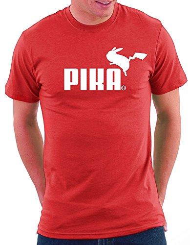 Pokemon Pika Parodie T-shirt Rot