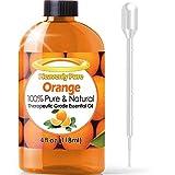 Olio essenziale di arancio, confezione grande da 118 ml, con contagocce incluso, all'aroma citrico d'arancia dolce100% puro e naturale, di qualità terapeutica, l'olio essenziale di arancio è ideale per aromaterapia, cure immunizzanti, come antibatterico naturale e per la pulizia