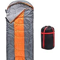Sleeping Bag, QMQ 3-4 Season Lightweight Sleeping Bag With Compression Sack for Adult Kids Camping Hiking Backpacking Trip, (190+30)x75cm