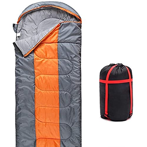 Sleeping Bag QMQ 3 4 Season Lightweight With Compression Sack For Adult Kids Camping Hiking Backpacking Trip 190 30x75cm