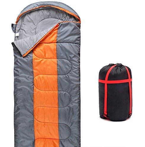 QMQ Schlafsack Hüttenschlafsack Deckenschlafsack ultraleich 3/4 Jahreszeiten-Schlafsack für Camping Wandern Outdooraktivitäten, 220 x 75 cm