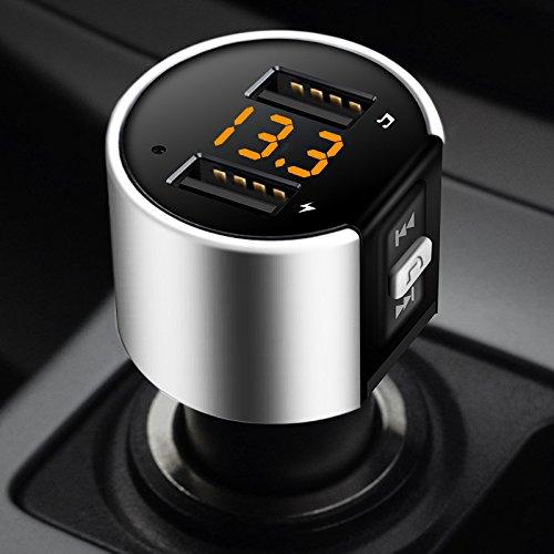 Ocamo Car Kit FM Transmisor Bluetooth C26S Reproductor de MP3 Adaptador de...
