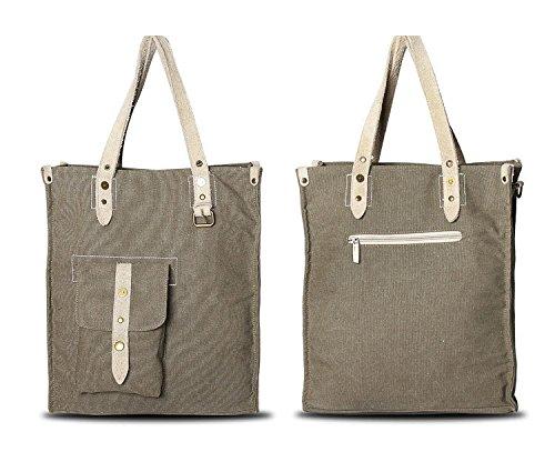 Folton Ladies Tote Bags Borsa Di Tela Vintage Grande Borsa A Tracolla Tracolla In Tela Shopper Bag Borsa Messenger Tote Bag Retro Borsa Delle Signore Tote Bag Leisure Bag Borsa Di Tela Verde