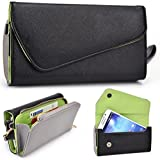 Grey Two-Tone Samsung Galaxy Note 4, Note 5 Clutch with Shoulder Strap