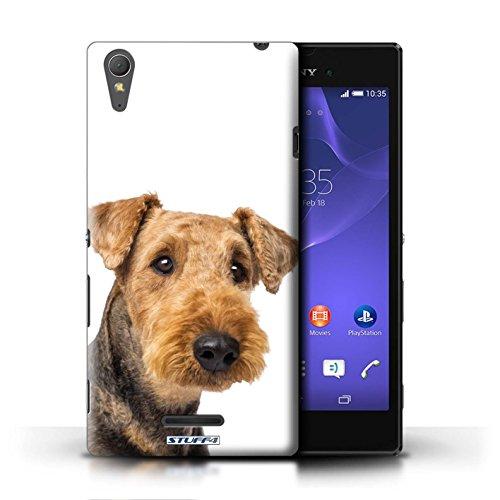 Kobalt® Imprimé Etui / Coque pour Sony Xperia T3 / Bouledogue conception / Série Chiens Airedale Terrier