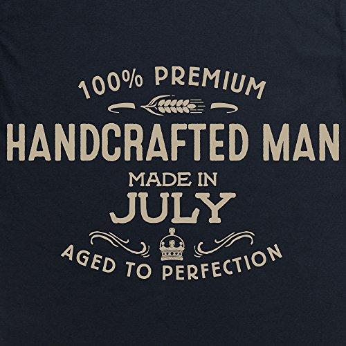 Handcrafted Man - Made in July T-Shirt, Herren Schwarz