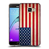 Head Case Designs Vereinigte Staaten Vintage Fahnen Soft Gel Hülle für Samsung Galaxy A3 (2016)