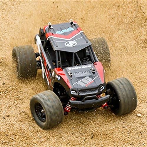 RC Auto, 50KM / H 1/18 Skala RC Auto 2.4G 4WD schnelle ferngesteuerte große Hochgeschwindigkeitsspur (Rot)