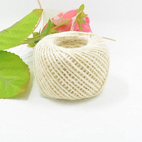 etbotu bunt Hanf Seil, umweltfreundlich Handwerk DIY Material, 2mm dick, 50/Stück Milchweiß - Baumwoll-mohair-garn