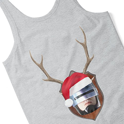 RoboCop Christmas Antler Head Women's Vest Heather Grey