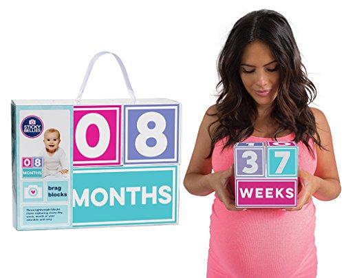 Sticky Bellies Brag Blocks - Baby Altersblöcke - Neutral - Mädchen - Jungs - 3 Styles verfügbar (Mädchen) von Sticky Bellies