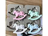 FOOBRTOPOO Kuchen-Essen-Form Trojanisches Pferd Schokoladenformen Kuchen Dekorieren Tools Aromatherapie Modell (grau)