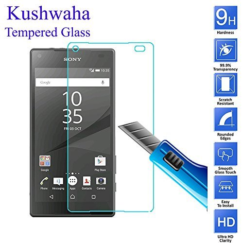 Kushwaha Premium Tempered Glass Screen Protector HD Quality for Sony...
