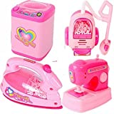 Best Barbie Play Kitchens - Toykart Battery Operated Pink Household Home Appliances Kitchen Review