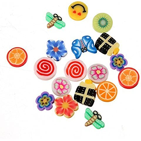 Ungfu Mall 100pcs DIY Nail Art Fimo canne bastoni Adesivo Decorazione - Fimo Canne