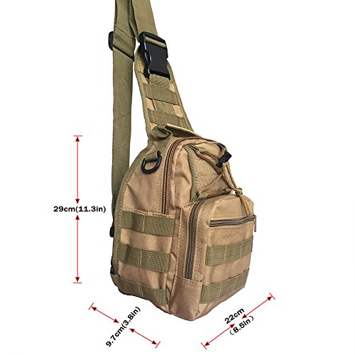 Outdoor zaino, Mfeu militare sport borsa a tracolla per campeggio, escursioni, trekking, Rover Sling Pack petto Pack, Acu digital Khaki