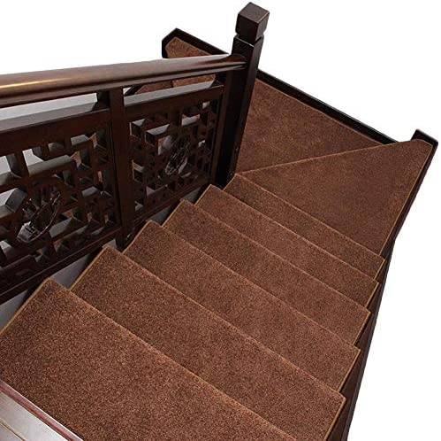 Area Tappeto Perfetto per Moquette, Passerelle in Legno E Moquette, per Anti-Skid Scale Tappeto per Indoor, all-in Silicone Autoadescante Stair Mats (Coloreee   Set of 5, Dimensioni   80x24x3cm) 7437db