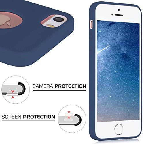 6 x Coque iphone 7 Protection écran Soft Case silicone flexible TPU en silicone flexible Housse de protection en silicone antidérapante Slim Fit avec couleur Candy Solaxi iphone 5/5S/SE