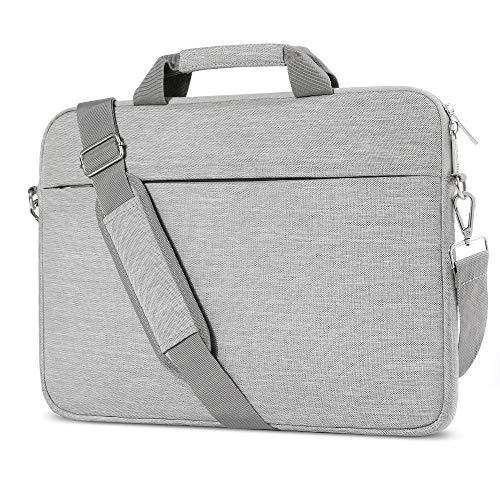 A Tailor Bird Laptoptasche, Laptophülle 15-15,6 Zoll mit Schulterriemen&Gepäckgurt,15,6 Zoll Tragbar Notebooktasche kompatibel PC Laptop Schutztasche Acer Asus Dell Fujitsu Lenovo HP Toshiba (Grau)