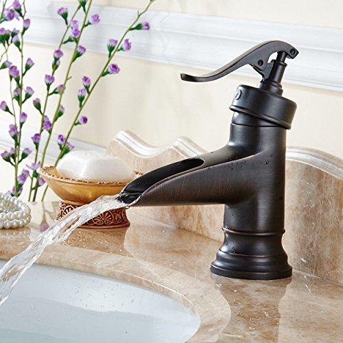 Einhebelmischer für die Küche, für das Badezimmer, Wasserhahn, Wasserhahn, Wasserfall, Kupferkühlung, Warmwasser, Wasserhahn mit UK-Standardarmaturen