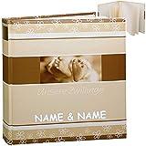 Unbekannt Fotoalbum / Kinderalbum - unsere Zwillinge - inkl. Name - Baby erste Fotos - Gebunden zum Einkleben blanko weiß - groß für bis zu 336 Bilder - Fotobuch / Phot..