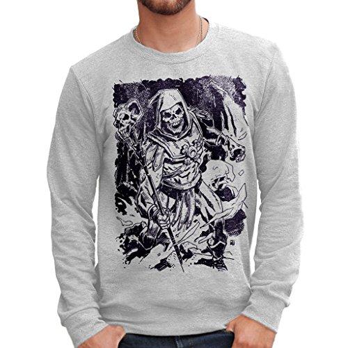 MUSH Sweatshirt Skeletor Master of The Universe- HE Man - Cartoon by Dress Your Style - Herren-XL-Grau