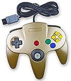 Amoji Classic verkabelter Controller Joystick Gamepad für Nintendo 64N64Spiel Goldfarben