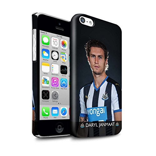 Officiel Newcastle United FC Coque / Clipser Brillant Etui pour Apple iPhone 5C / Pack 25pcs Design / NUFC Joueur Football 15/16 Collection Janmaat