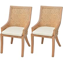 vidaxl 2x chaise de salle manger rotin chaise de cuisine chaise manger - Chaise En Rotin
