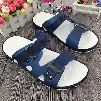 Slippers & amp da uomo;Estate Mocassino PVC casuale Tallone piano scuro Army Marrone Verde Blu Navy Cof sandali US11 / EU44 / UK10 / CN46