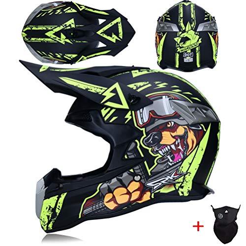 Teenagers Classic Off Road Motorrad Farbiger Schutzhelm Anti Crash Downhill Motocross Schutzkappen Abs Material Atmungsaktiv Adult Full Face Racing Helme