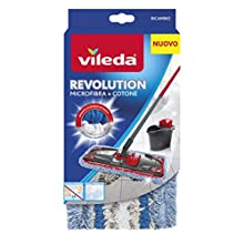 Vileda 159147 Revolution Spare Microfibre and Cotton, White