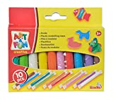 Simba 106324169 - Art & Fun 10 bunte Knetstangen Made in Germany