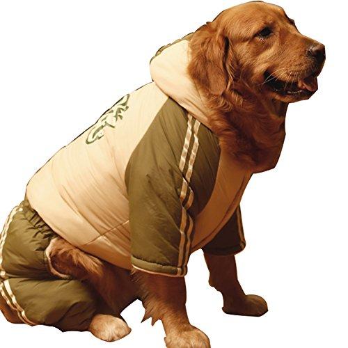 omem Hund Winter Overall, Christmas Stitch Hund Kostüm Winter Kleidung Jacke Mäntel für 30–110Pfund Hund (Bubble Kleid Schuhe)